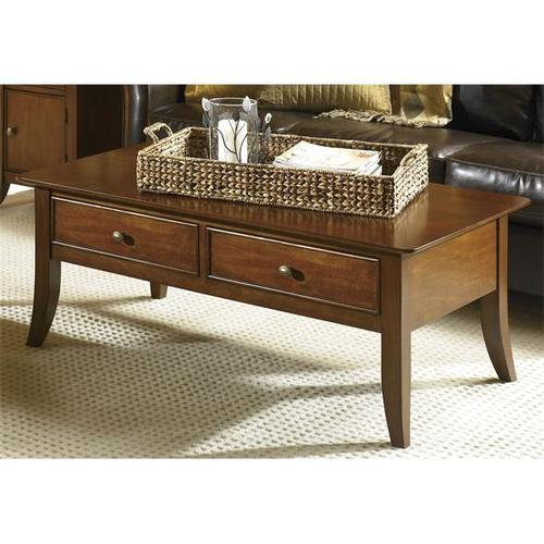 American Crossings Two Drawer Coffee Table Fawn Cherry