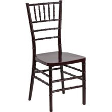 HERCULES PREMIUM Series Mahogany Resin Stacking Chiavari Chair