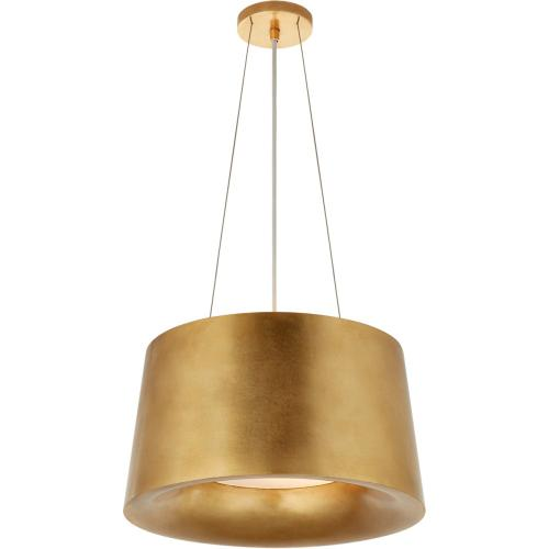 Visual Comfort BBL5089G Barbara Barry Halo 2 Light 19 inch Gild Hanging Shade Ceiling Light, Small