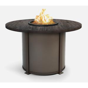 """54"""" Round Balcony Fire Table Ht: 34.5"""" Valero Aluminum Base (Indicate Top, Frame, & Side Panel Color)"""