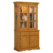 See Details - Keepsake Buffet and Lighted Hutch - Light Oak