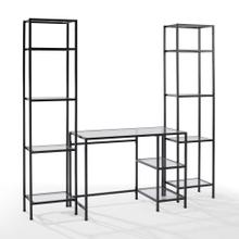 AIMEE 3PC DESK & ETAGERE SET