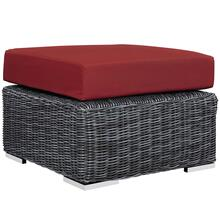 Summon Outdoor Patio Sunbrella® Ottoman in Canvas Red