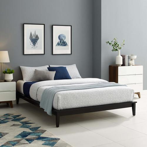 Modway - Lodge Full Wood Platform Bed Frame in Cappuccino