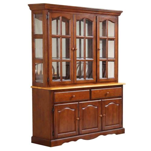 Product Image - Double Pedestal Trestle Dining Set w/China Cabinet (9 Piece)