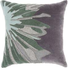 "Luminescence E1205 Grey 16"" X 16"" Throw Pillow"