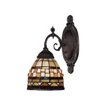 See Details - Jewelstone 1-Light Wall Lamp in Tiffany Bronze with Tiffany Style Glass