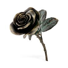 Antique Dark Bronze Blooming Rose