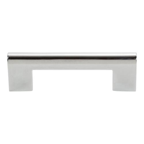 Round Rail Pull 3 Inch (c-c) - Polished Chrome