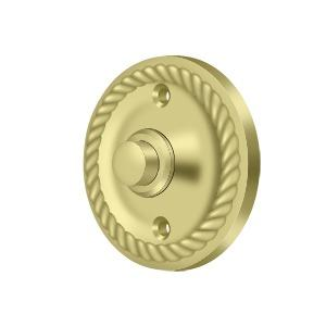 Deltana - Bell Button, Round with Rope - Polished Brass