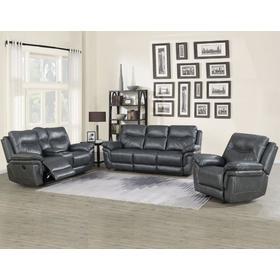 Isabella Grey 3 Piece Manual Motion Set (Sofa, Loveseat & Chair)