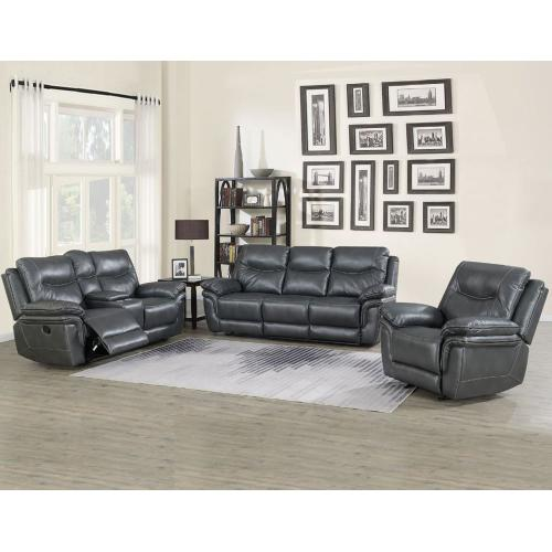 Isabella Grey 3 Piece Manual Motion Set (Sofa, Loveseat & Chair)
