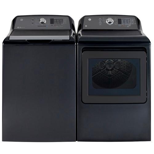 Gallery - GE 7.4 cu.ft. Top Load Electric Dryer with SaniFresh Cycle Diamond Grey - GTD65EBMRDG