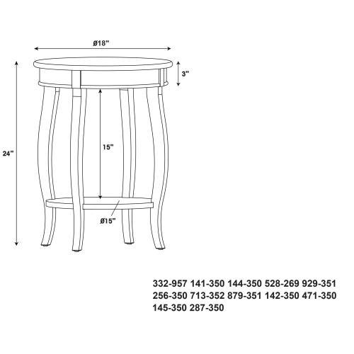 Round Lower Shelf Table, Black