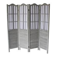 7043 GRAY Shutter Arc 4-Panel Room Divider