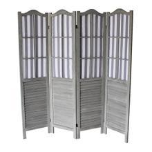 See Details - 7043 GRAY Shutter Arc 4-Panel Room Divider