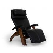 Perfect Chair ® PC-LiVE™ PC-600 Omni-Motion Silhouette - Black Premium Leather - Walnut