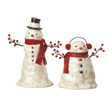 Snowman w/Branch Arms Figurines (2 asstd)