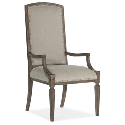 Woodlands Arched Upholstered Arm Chair - 2 per carton/price ea