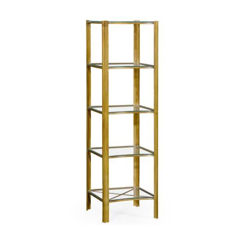 Modernist brass five tier etag re