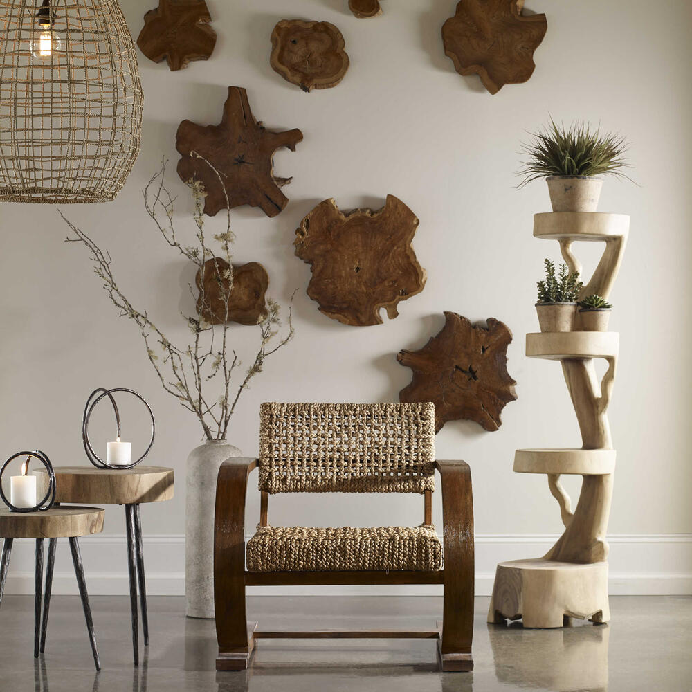 See Details - Kalani Wood Wall Decor, S/3