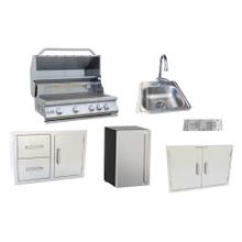 View Product - 6 Piece BBQ Grill, Sink, Drawer Door Combo, Fridge, Door,Vent