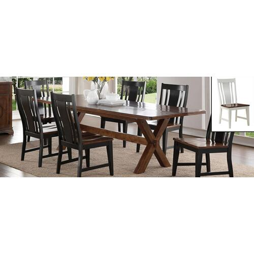 Panel Chair White/Brown