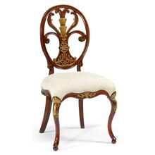 Sheraton style oval back chair (Side)