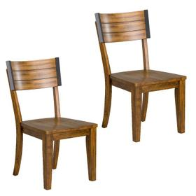 Nelson Brown Wooden Side Chair