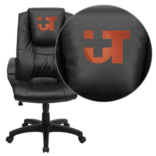 Texas SW Medical Center Dallas Embroidered Black Leather Executive Office Chair