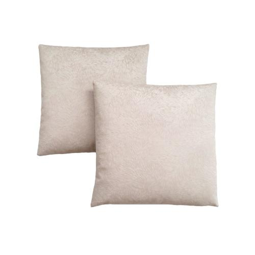 """Gallery - PILLOW - 18""""X 18"""" / LIGHT TAUPE FEATHERED VELVET / 2PCS"""
