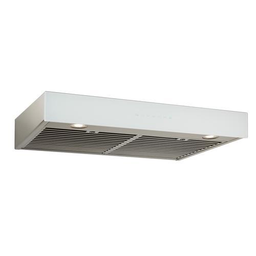 BEST Range Hoods - 36-inch Under-Cabinet Range Hood w/ PURLED™, ENERGY STAR, 550 Max Blower CFM, White Glass (UCB3 Series)