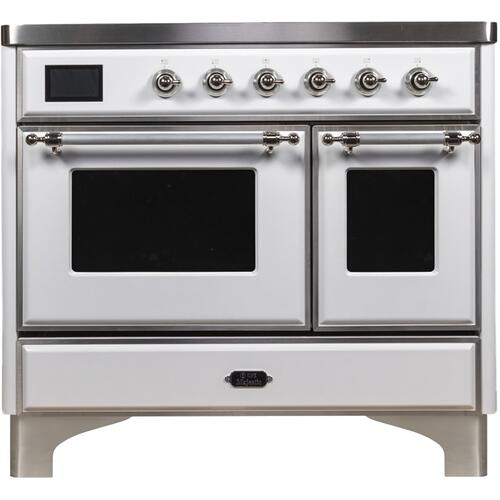 40 Inch White Electric Freestanding Range