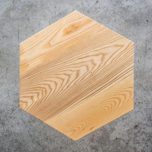 Metric End Table Natural Ash