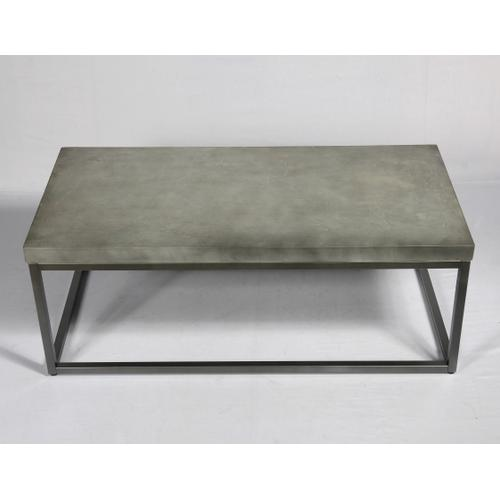 Onyx Coffee Table, Aged Concrete T375-00