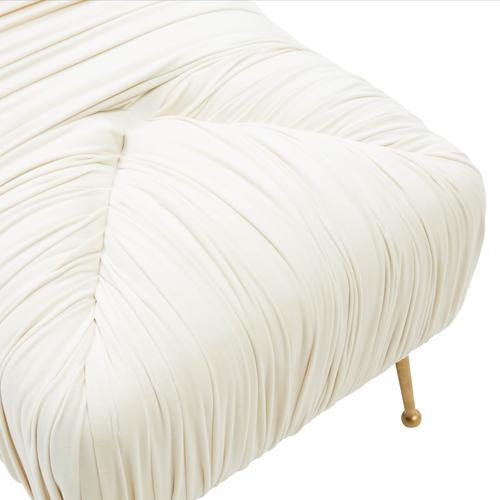 Tov Furniture - Jessica Cream Velvet Bench
