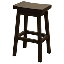 "Saddle Stool - 24"" high - Barn Brown - Wood Seat"