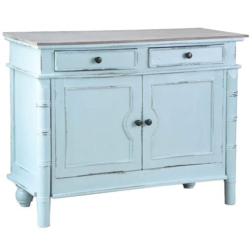 Sunset Trading - Cottage Cabinet / Buffet / Sideboard - Beach Blue