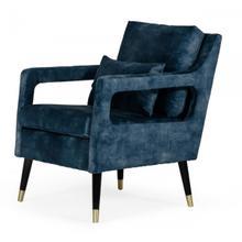 Divani Casa Doherty - Mid-Century Blue Accent Chair