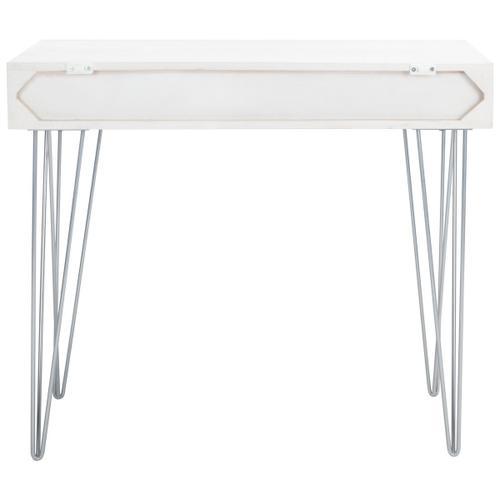 Marigold Desk - White Wash / Silver