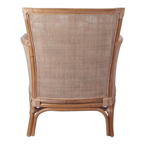Tatum Rattan Accent Chair, Canary Brown