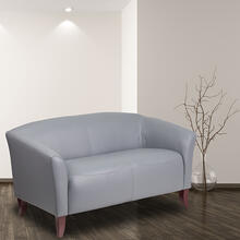 HERCULES Imperial Series Gray LeatherSoft Loveseat
