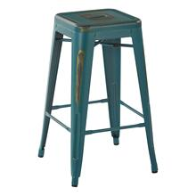 """See Details - Bristow 26"""" Antique Metal Barstool, Antique Tourquoise, 4 Pack"""