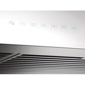 Ispira 30-in. 650 MaxCFM Stainless Steel Chimney Range Hood with PURLED Light System and White Glass