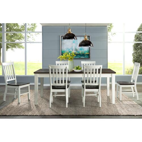Kayla Dining Set - Table, Bench, and 4 Side Chairs
