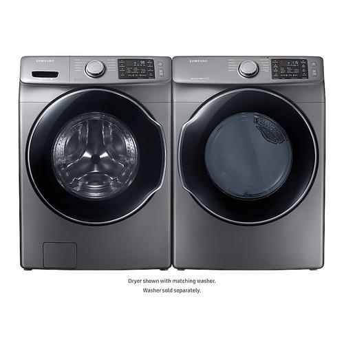 Samsung - 7.5 cu. ft. Electric Dryer in Platinum