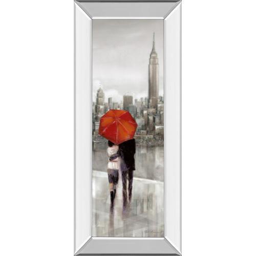 "Classy Art - ""New York Stroll"" By Ruanne Manning Mirror Framed Print Wall Art"