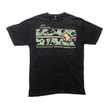 See Details - Black T-Shirt w/ Camo Print-M