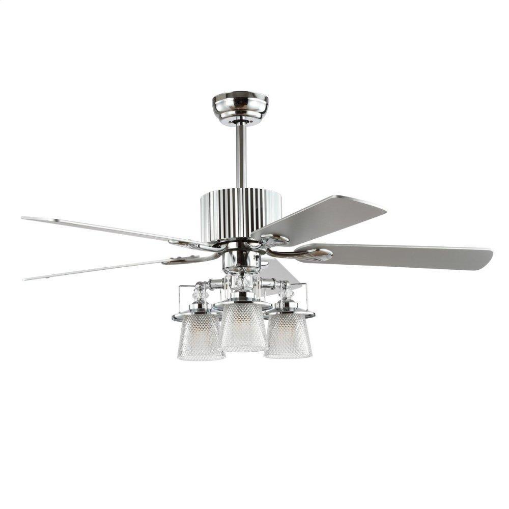 Parlin Ceiling Light Fan - Silver / White Maple