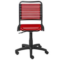 See Details - Allison Bungie Low Back Office Chair In Red With Graphite Black Frame and Black Base
